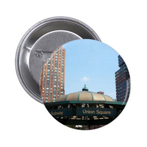 Union Square Subway NYC Button