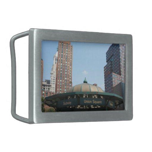 Union Square Subway NYC Belt Buckles