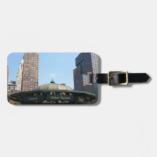 Union Square Subway NYC Bag Tag