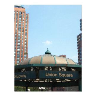 Union Square Subway NYC Personalised Invitations