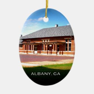 UNION STATION - Albany, Georgia Christmas Ornament