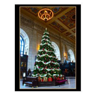 Union Station Christmas Tree, Kansas City, Missour Postcard