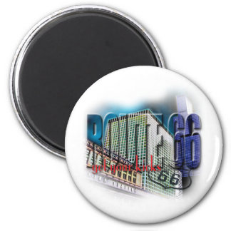 Union Station - Route 66 - Chicago 6 Cm Round Magnet