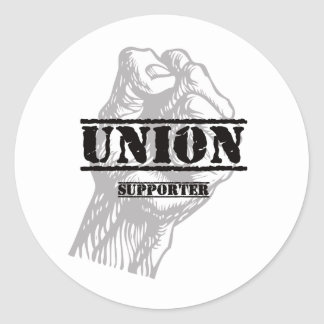 Union Thug Supporter Classic Round Sticker