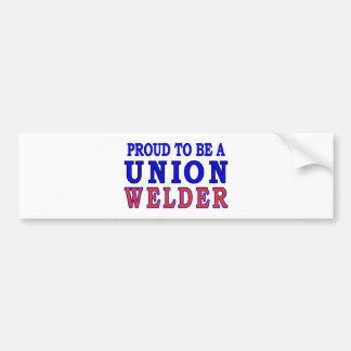 UNION WELDER BUMPER STICKER