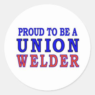 UNION WELDER ROUND STICKER