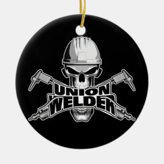 Union Welder: Skull and Torches Christmas Ornament