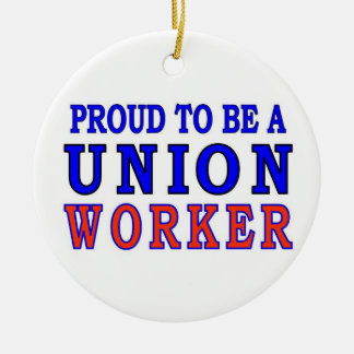 UNION WORKER CHRISTMAS ORNAMENT