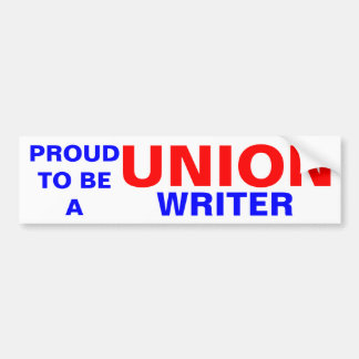 UNION WRITER BUMPER STICKER