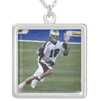 UNIONDALE, NY - AUGUST 13:  Stephen Peyser #18 4 Silver Plated Necklace