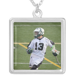 UNIONDALE, NY - JULY 28:  Stephen Berger #13 5 Silver Plated Necklace