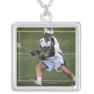 UNIONDALE, NY - JULY 28:  Zach Brenneman #28 Silver Plated Necklace