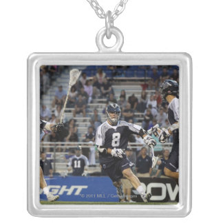 UNIONDALE, NY - JUNE 16:  Brian Carroll #8 Silver Plated Necklace