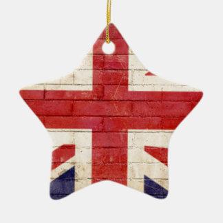 unionflag ceramic star decoration