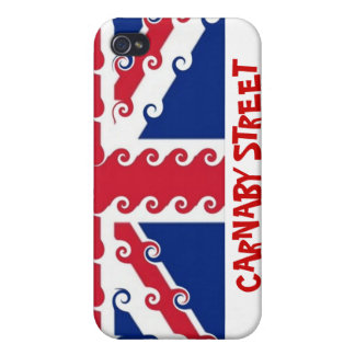 UnionJack curls, CARNABY STREET Case For The iPhone 4