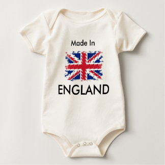 UnionJack , Made In, ENGLAND Baby Bodysuit
