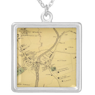 Unionport, Westchester, Schuylerville Silver Plated Necklace