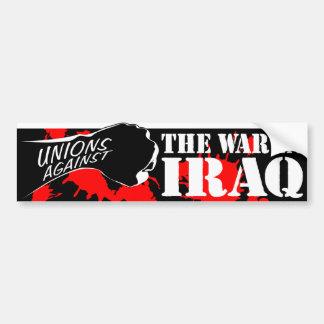 Unions Against the War in Iraq Bumper Sticker