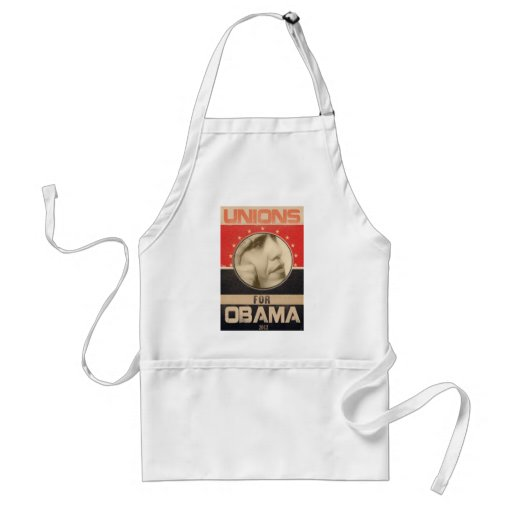 Unions for Obama 2012 Grunge Apron