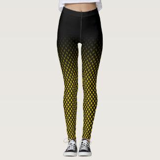 uniq yellow square pattern leggings