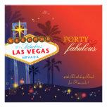 Unique 40th Las Vegas Birthday Party Invitations