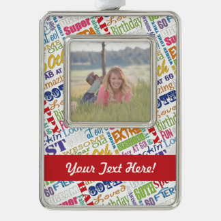 Unique 60th Birthday Party Personalized Gifts Silver Plated Framed Ornament