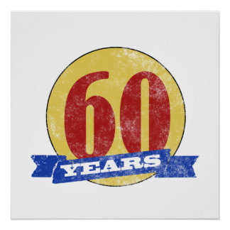 Unique 60th Birthday Poster