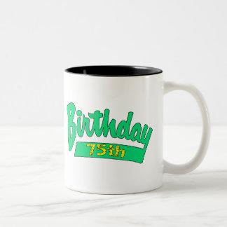 Unique 75th Birthday Gifts Two-Tone Mug