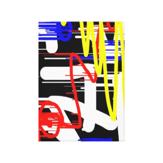 Unique Abstract Digital Stretched Canvas Prints