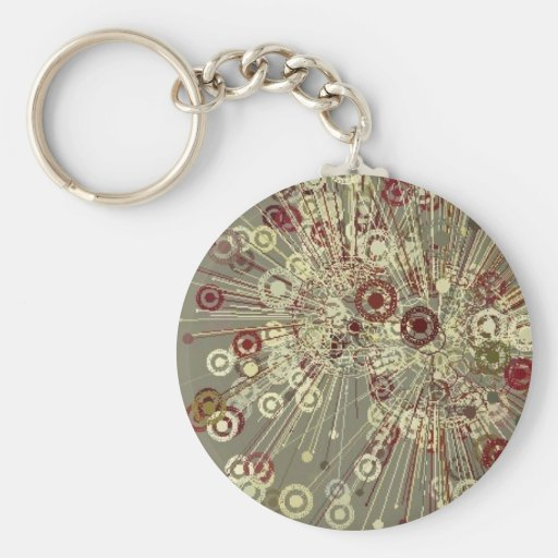 UNIQUE ABSTRACT KEYCHAIN