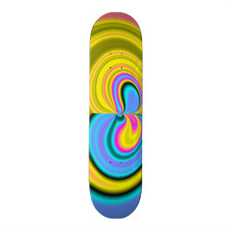 Unique abstract pattern 20.6 cm skateboard deck