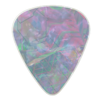 Unique Abstract Pattern Pearl Celluloid Guitar Pick