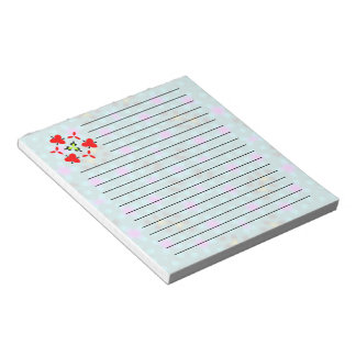 Unique abstract pattern notepad