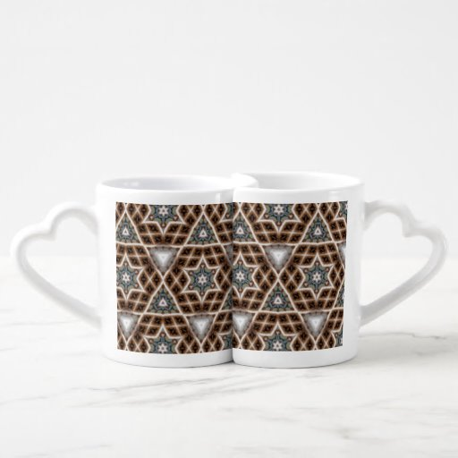 Unique abstract pattern lovers mug