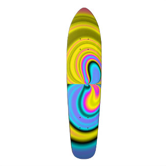 Unique abstract pattern skate board