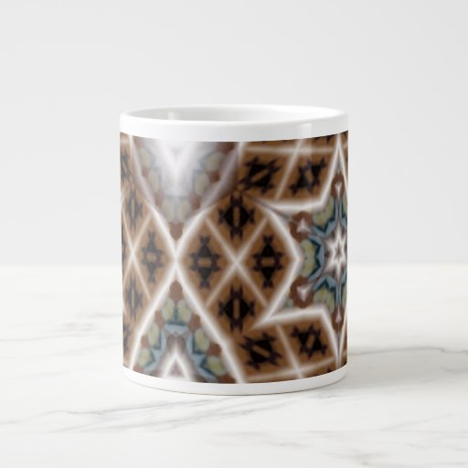 unique abstract pattern extra large mug