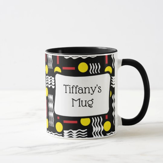 Unique Abstract Personalised Coffee Mug