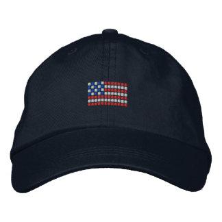 Unique American flag baseball cap - dotted USA fla