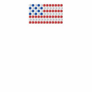Unique American flag polo shirt - dotted USA flag