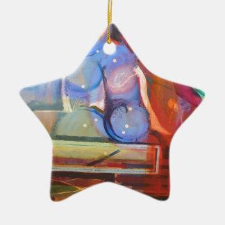 unique and colorful trendy home decor ceramic star decoration