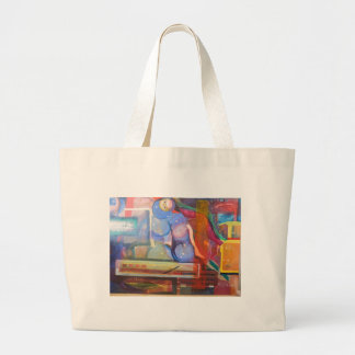 unique and colorful trendy home decor large tote bag
