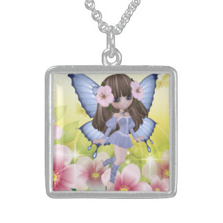 Unique and Exotic Blond Princess Fairy Sterling Silver Necklace