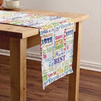 Unique And Special 25th Birthday Party Gifts Short Table Runner