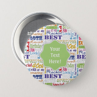 Unique And Special 40th Birthday Party Gifts 7.5 Cm Round Badge