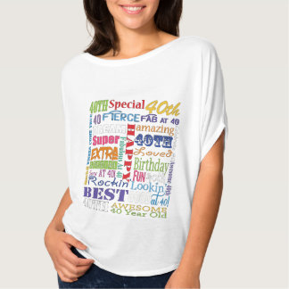 Unique And Special 40th Birthday Party Gifts T-Shirt