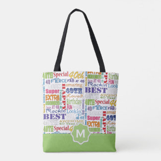 Unique And Special 40th Birthday Party Gifts Tote Bag
