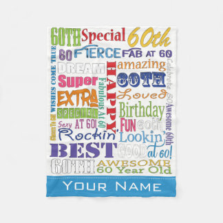 Unique And Special 60th Birthday Party Gifts Fleece Blanket