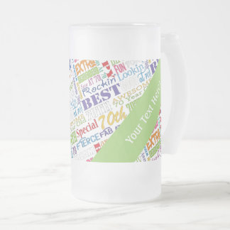 Unique And Special 70th Birthday Party Gifts Frosted Glass Beer Mug
