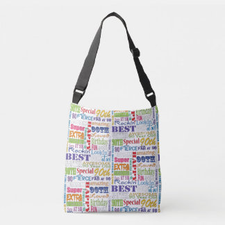 Unique And Special 90th Birthday Party Gifts Crossbody Bag