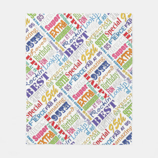 Unique And Special 95th Birthday Party Gifts Fleece Blanket